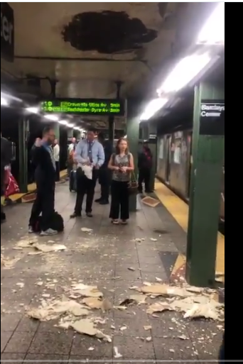 Sarah. on Twitter Hello MTA and NYCTSubway ...your ceilings are falling on people again.…